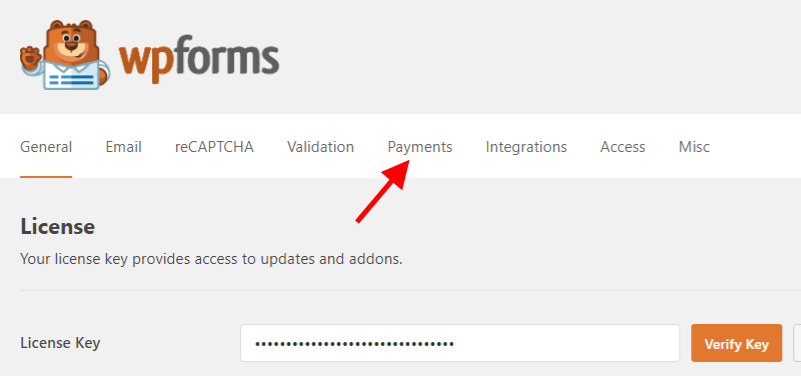 WPForms Payment Option