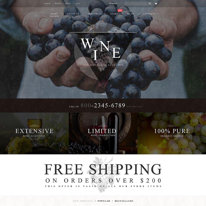 Wine WooCommerce Theme